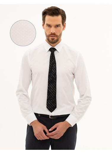 Pierre Cardin Erkek   Gömlek G021GL004.000.1214459.VR013 Beyaz